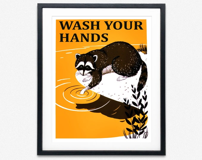 Wash Your Hands Poster Bathroom Poster Bathroom Sink Print