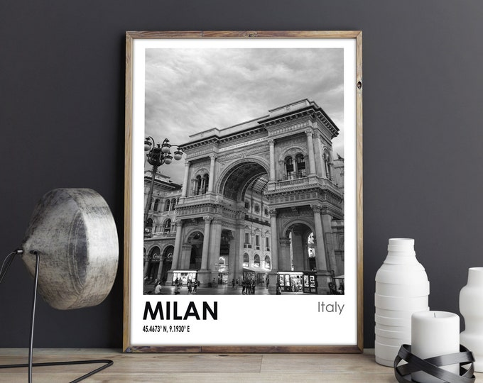 Milan Travel Poster Milan Photo Print Milan Travel Art