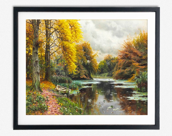 River Painting River Wall Art Soothing River Decor