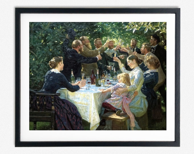 Peder Severin Krøyer - Hip, Hip, Hurrah! (1888)