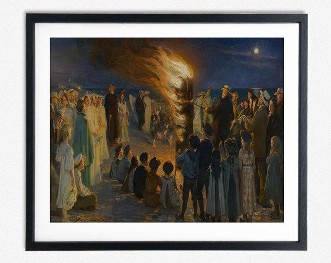 PS Krøyer - Midsummer Eve bonfire on Skagen's beach