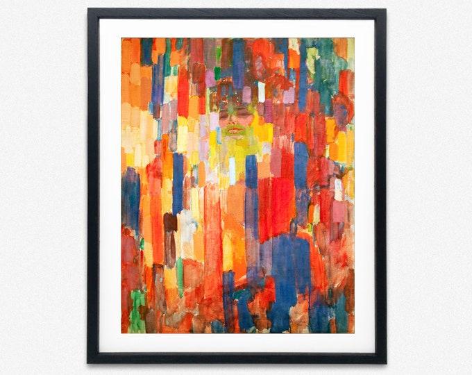 Kupka Painting Mme Kupka Among Verticals 1910 František Kupka Art Modern abstract painting Modern Oil Painting Art Modern Painting Art