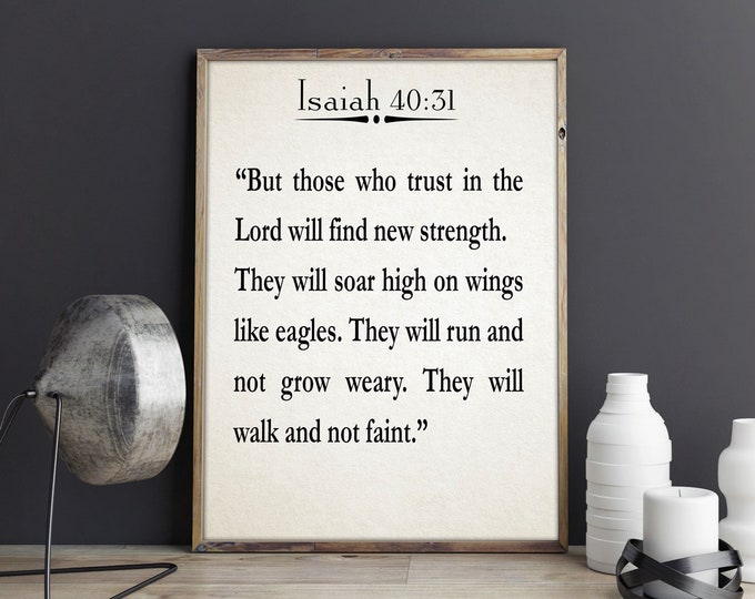 Isaiah Bible Quote Scripture Quote Inspiring Christian Quote