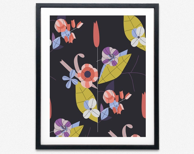 Modern Floral Wall Art Floral Decor Flower Poster