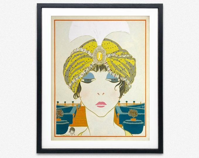 Art Nouveau Print by Paul Poitet 1911 French Art Nouveau Decor