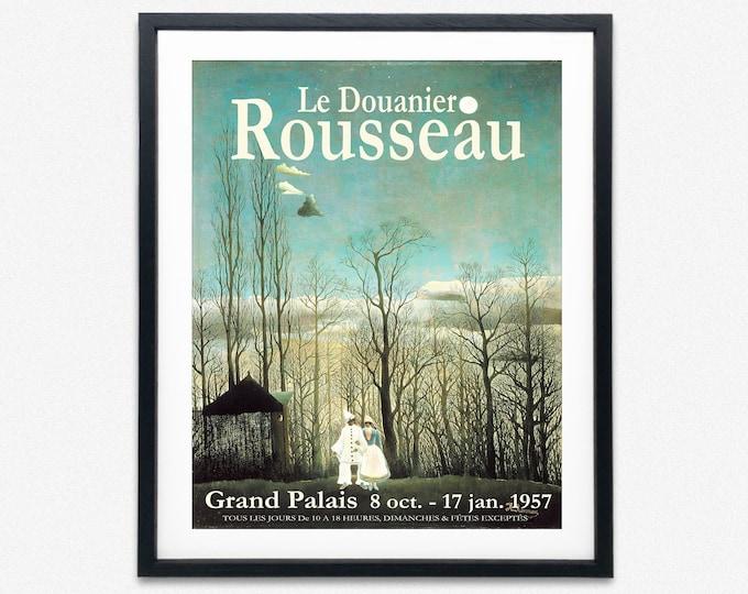 Henri Rousseau Exhibition Poster French Museum Exhibition Print 1957