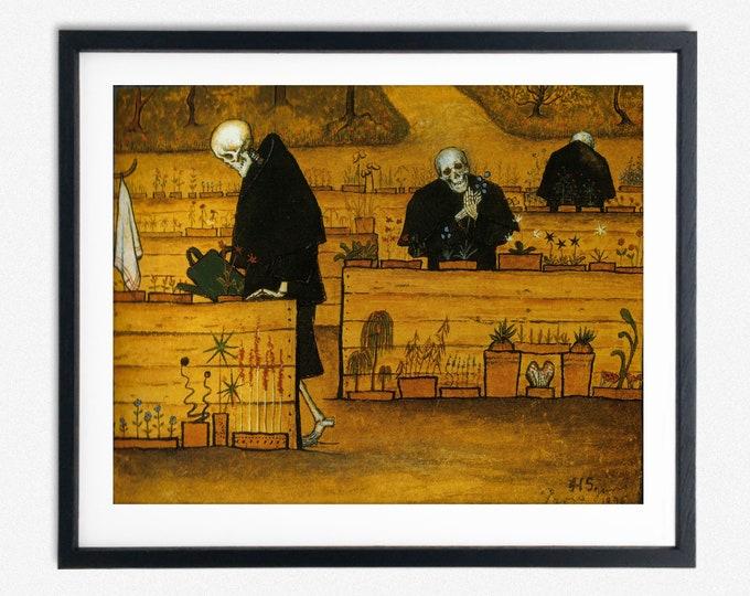 Hugo Simberg The Garden of Death Painting 1896 Symbolist Painting