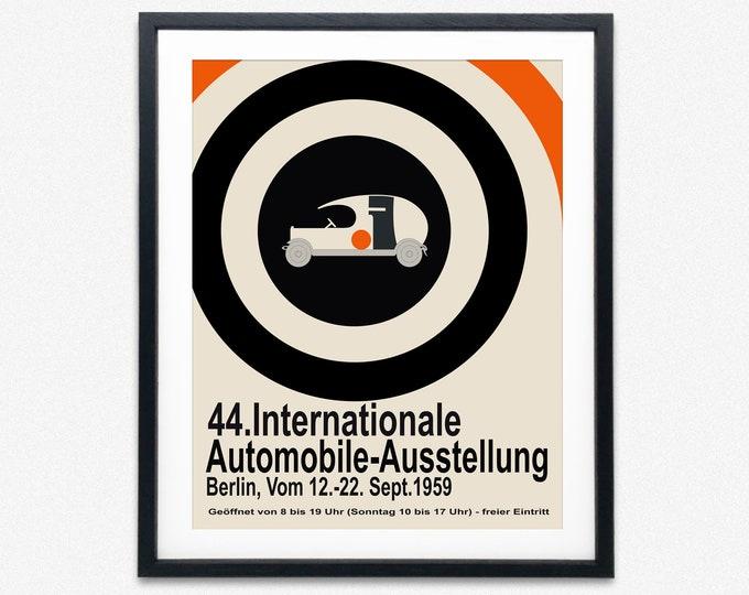 Car Exhibition Poster Car Poster 1959