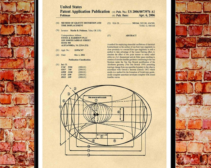 Time Machine Poster Time Machine Patent Print