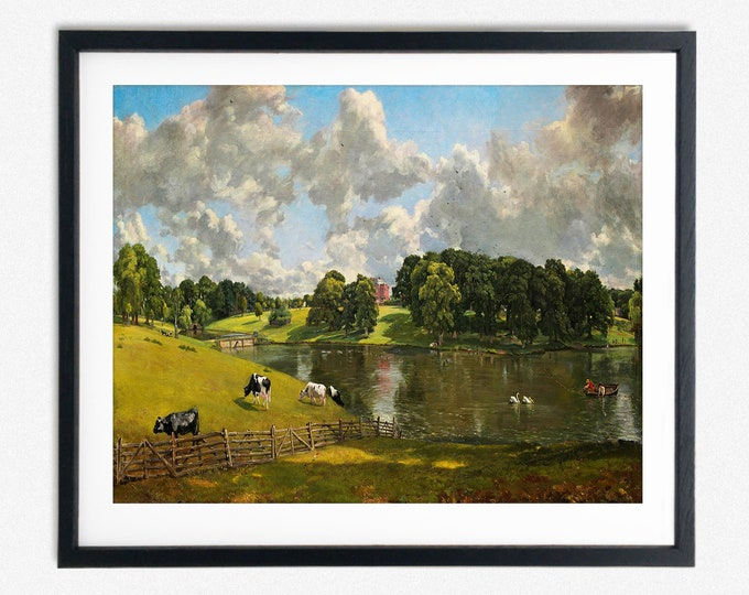 Pastoral English Scene Wivenhoe Park Painting by John Constable