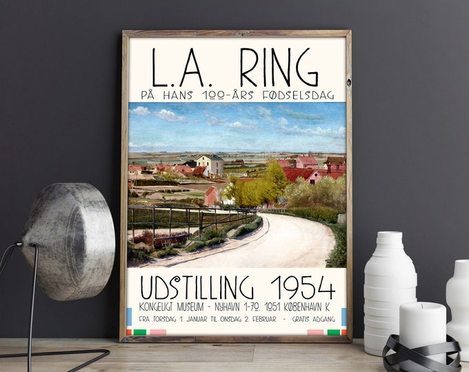 Scandinavian Museum Exhibition Poster LA Ring