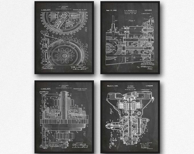 Engine Inventions Mechanical Blueprints Mechanical Gift Art