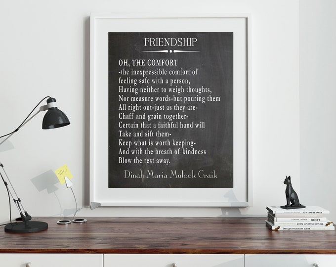 Gift for a True Friend Friendship Poem by Dinah Maria Mulock Craik