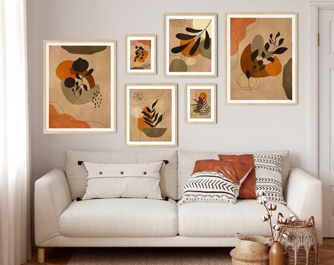 Gallery Print Set of Botanical Ephemera Paintings Set of 6 Gallery Wall Set