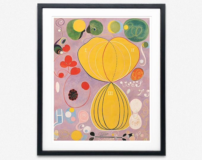 Hilma of Klint Abstract Art Group IV, No. 7, The Ten Largest, Adulthood Painting