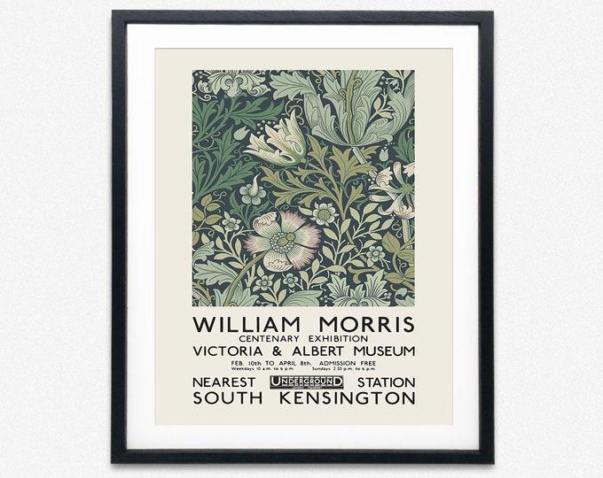 William Morris Exhibition Poster London 1934