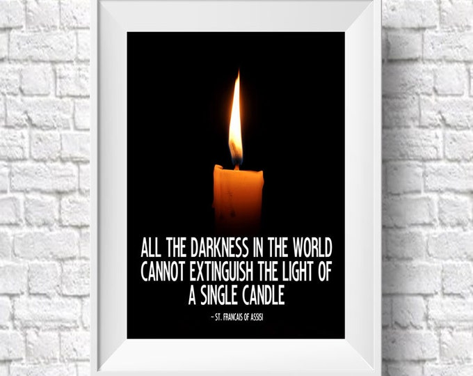 St. Francis of Assisi Inspirational Quote Christian Quotes Christian Gift Christian Poster Catholic Gift Thank You Gift Motivational Quote
