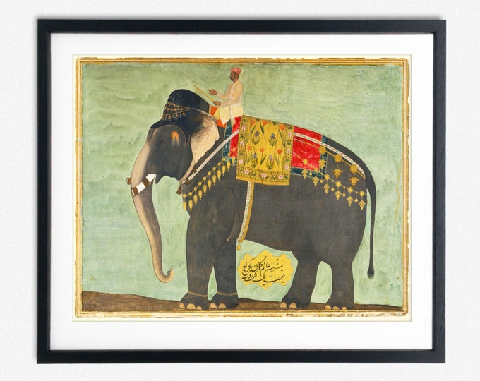 Elephant Print Indian Elephant Poster from 1640