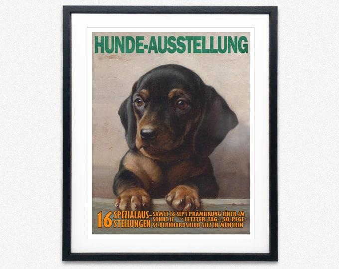 Dog Exhibition Poster Dachshund Poster Dachshund Wall Art
