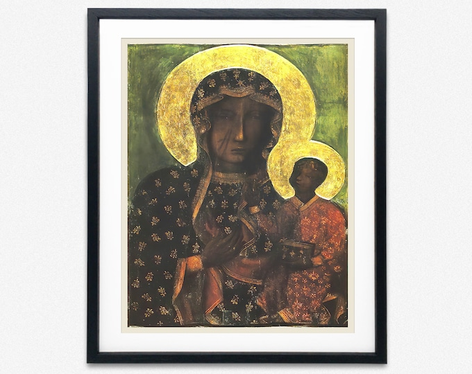 Black Madonna of Czestochowska Blessed Virgin Mary Painting