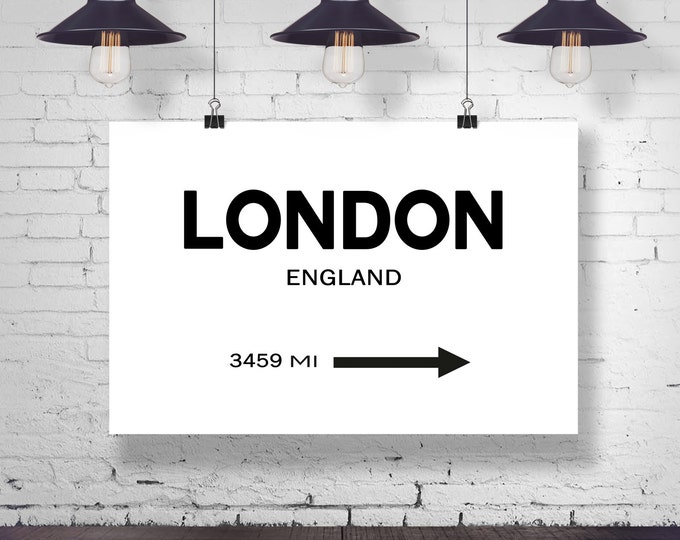 City Sign Wall Art London City Sign London Art London Photo England Wall Art City Wall Art Personalized Signpost