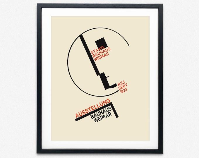 Bauhaus Exhibition 1923 Bauhaus Design Poster