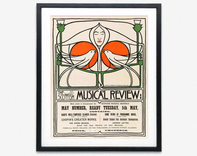 Scottish Art Nouveau Poster by Charles Rennie Mackintosh