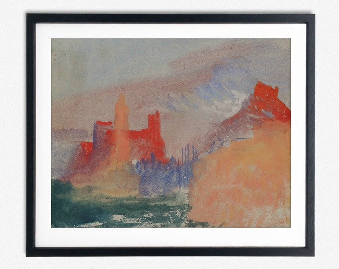 JMW Turner Vermillion Towers 1834 William Turner Romantic Painter English Print Watercolor Painting Modern Watercolor Art Expressionist Art