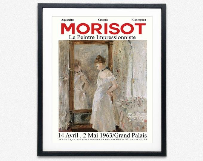Berthe Morisot Art Exhibition Poster Mid Century Museum Poster Art