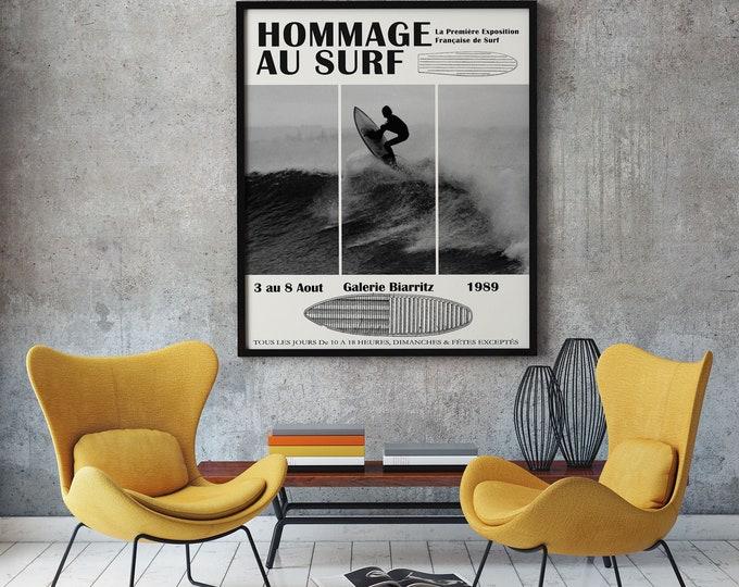 Surfing Exhibition Poster Surfing Poster Biarritz Surfing Print
