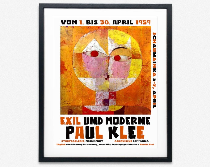 Museum Exhibition Poster Paul Klee Modern Art Exhibition Poster