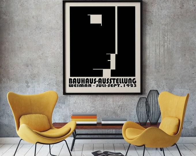 Bauhaus Exhibition Poster 1923 Bauhaus Decor