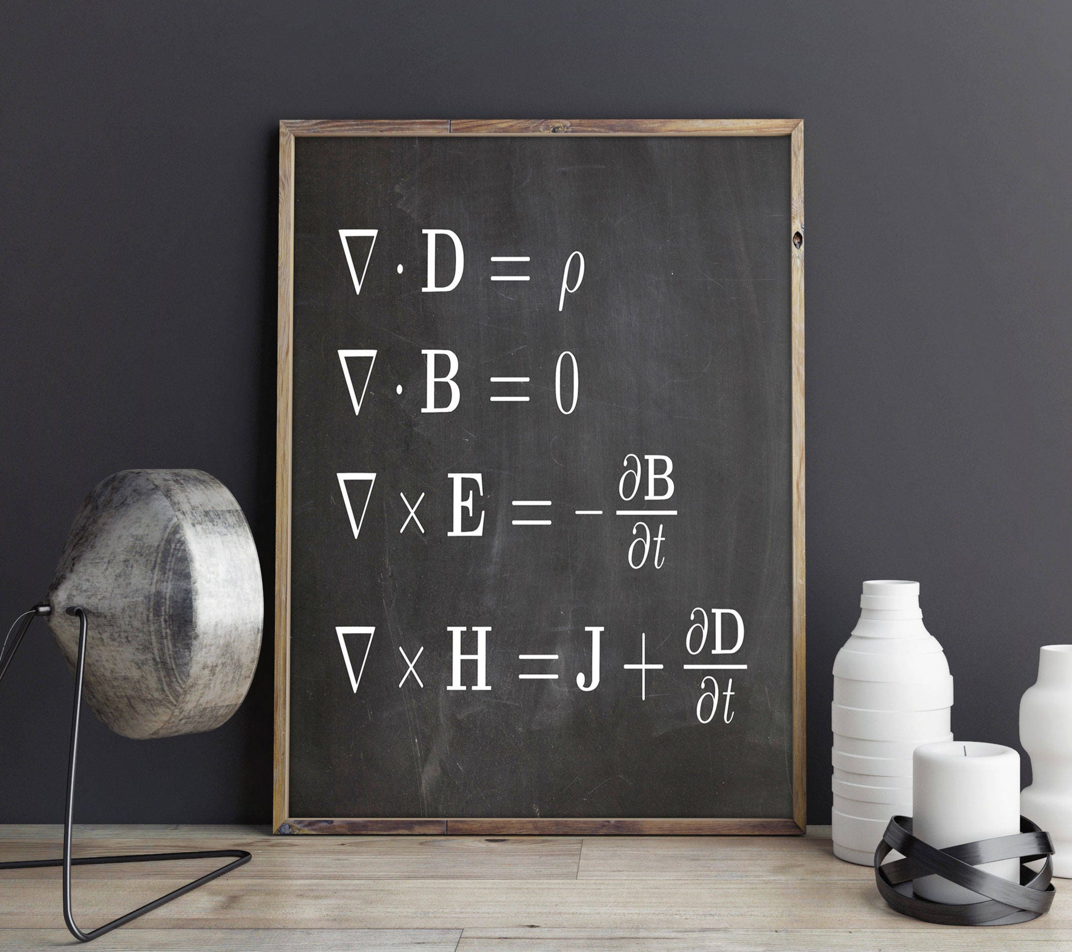 Math Poster Maxwell\'s Equations Math Equations Poster Math Prints ...