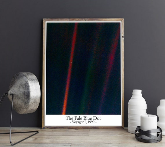 The Pale Blue Dot Poster Pale Blue Dot Print Astronomy Poster Science Poster Science Decor Space Poster Art Space Art Space Decor