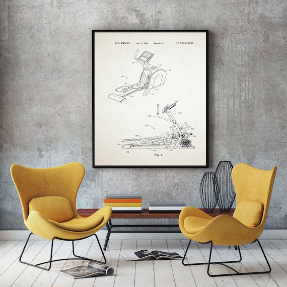 Cross Trainer Patent Print Training Decor WB433