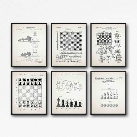 Chess Playing Decor Chess Gift Set Chess Decor Set of 6 WB497-502