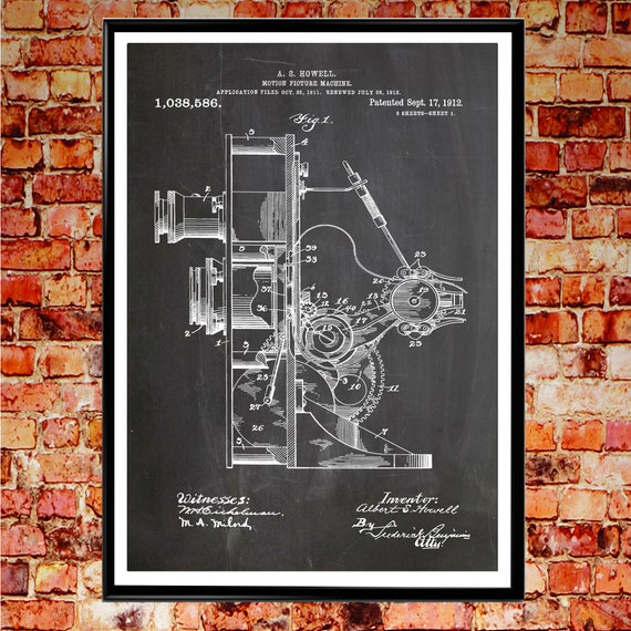 Movie Camera Patent Poster Movie Blueprint Wall Art Movie Decor for Movie Room Cinema Art Film Poster WB088