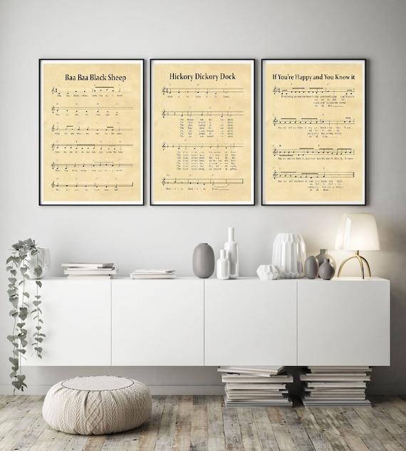 Nursery Music Sheets Nursery Song Sheets WBNUR-3