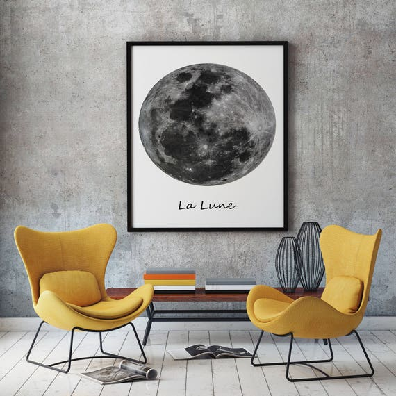 Moon Poster Art Moon Art Print Moon Wall Art Moon Prints Space Wall Art Lunar Wall Art Lunar Art Moon Phases (Sizes up to 50cm x 70cm)