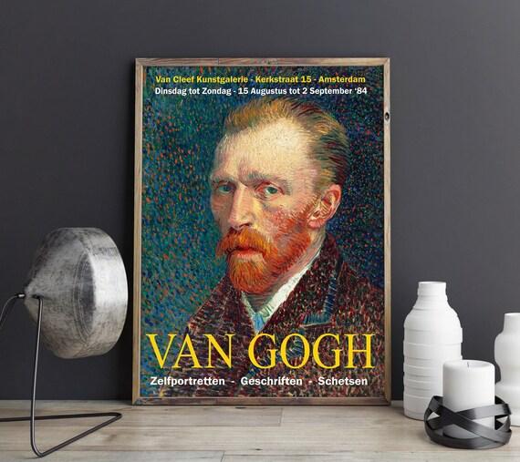 Van Gogh Exhibition Art Poster 1984 Amsterdam Print