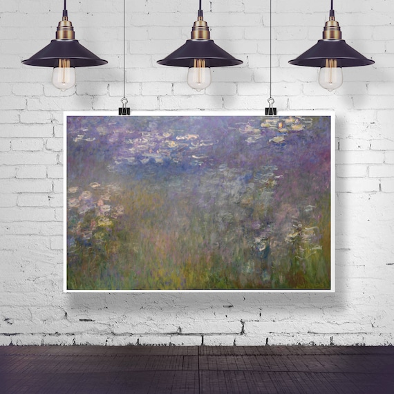 Claude Monet Water Lilies Painting Classic Painting Oil Painting Wall Art Oil Painting Poster Modern Wall Art Modern Painting