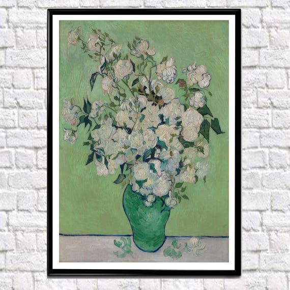 Van Gogh Roses 1890 Van Gogh Painting Reproduction Van Gogh Poster Van Gogh Print Classic painting (sizes up to 50cm x 70cm)