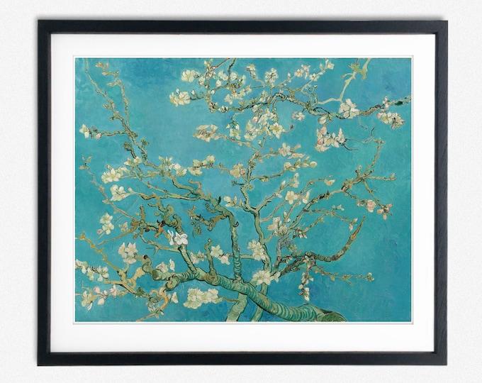 Vincent Van Gogh Almond Blossom 1890 Blossom Painting Van Gogh Painting Flowers Painting Van Gogh Modern Art Painting Modern Art Poster