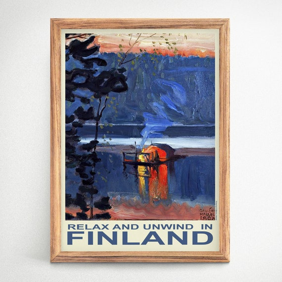 Finland Travel Poster Finland Wall Art Scandinavian