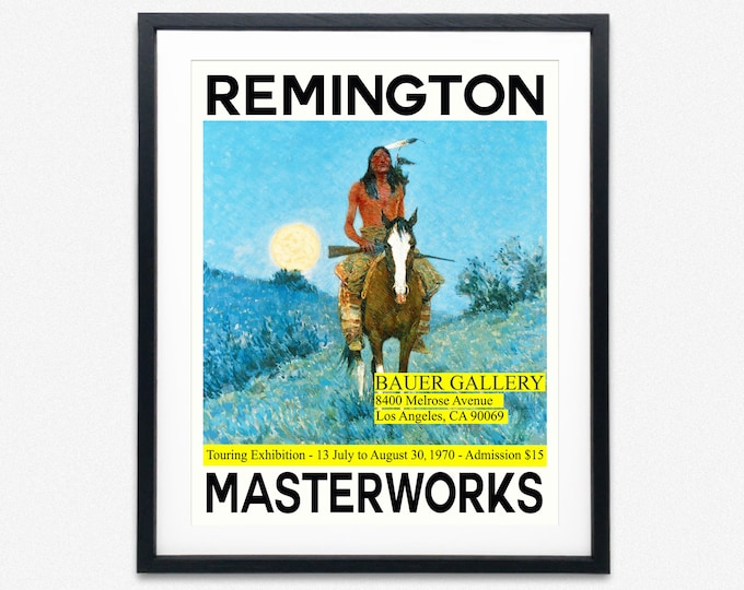 Frederick Remington Exhibition Poster Western Poster Native American Art