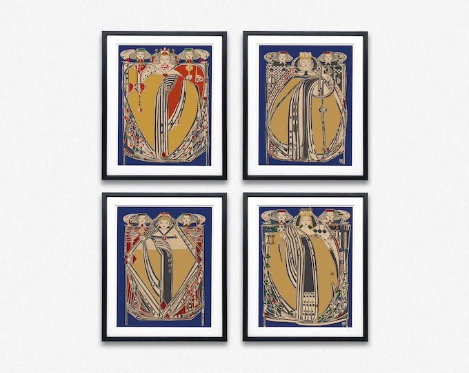 The 4 Queens by Margaret MacDonald Mackintosh Playing Cards Prints