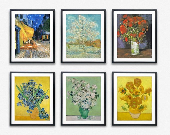 Eco Friendly Gift Van Gogh Paintings Set of 6 Vincent Van Gogh Prints
