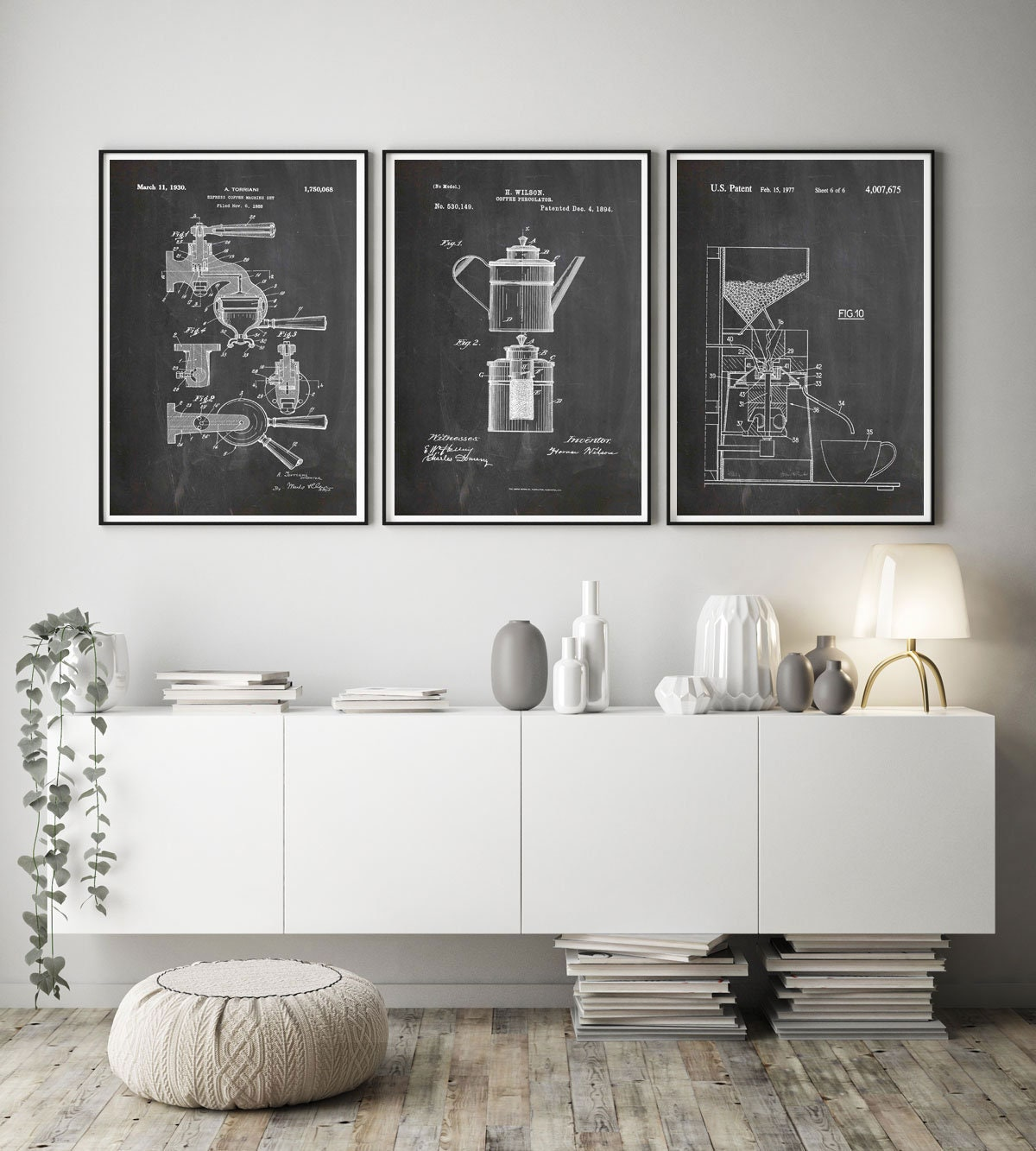 Coffee Decor Cafe Wall Art Coffee Patent Prints Coffee Percolator Coffee Machine Coffee Art Coffee Shop Art Coffee Shop Decor Wb261 262 263