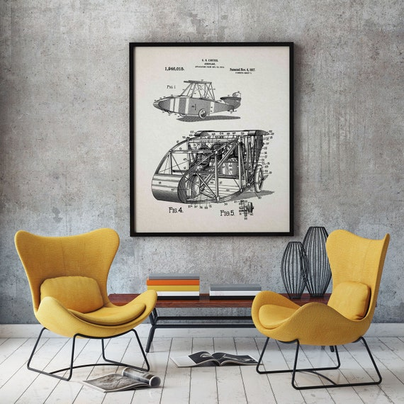 Airplane Poster Airplane Wall Art Vintage Airplane Blueprint Airplane Prints Airport Decor Pilot Decor Aviation Wall Art Airport Art WB316
