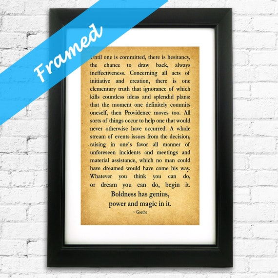 Inspiring Christmas Gift For Entrepreneur Quotation Framed Print